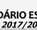 Calendário Escolar 2017/2018 – Projeto de Despacho