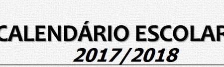 Calendário Escolar e de Provas e Exames para o ano letivo 2017/2018